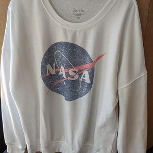 White NASA sweatshirt